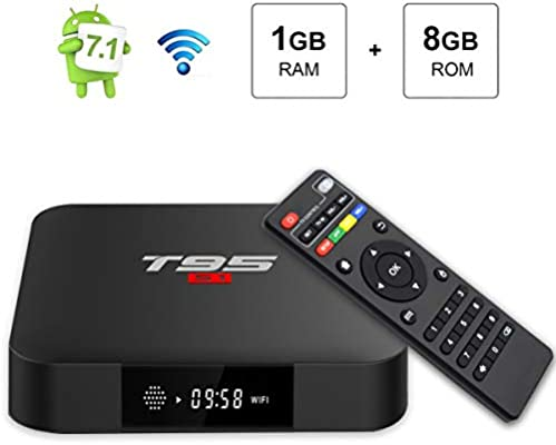Android TV Box, T95 S1 Smart Box with 1GB RAM 8GB ROM Android 7.1 amlogic s905 W Quad Core cortex-a53 hasta Processor HDMI 2.0 h.265 2.4GHz Wifi 100 m Ethernet: Amazon.es: Electrónica