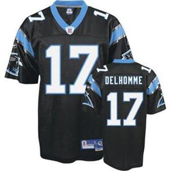 cheaper bde68 d696c Amazon.com: Jake Delhomme Carolina Panthers Reebok Premier ...