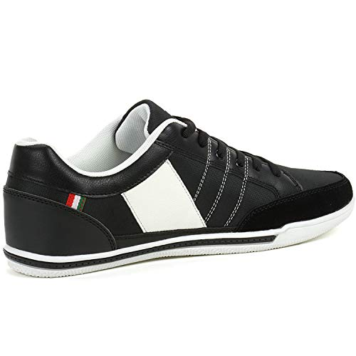 New Casual Athletic Swiss Stefan Retro Fashion Sneakers Tennis Shoes (11, Black)