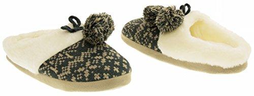 Four Alpine À Muletiers Gris Footwear Femmes Mousse Seasons Fourrure Mémoire Pantoufles Studio En BnnqgF4