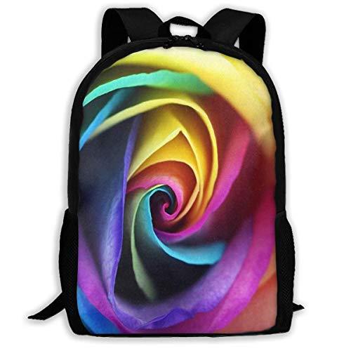 GHYGTY Backpack Rainbow Rose Fabulous for Men Halloween