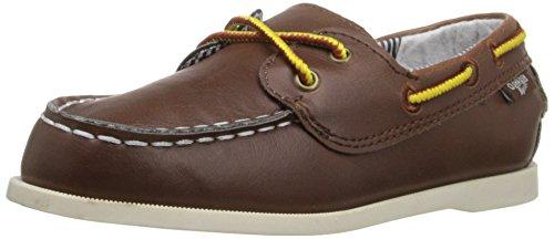 OshKosh B'Gosh Alex7-B Boat Shoe (Toddler/Little Kid), Brown, 8 M US Toddler (Brown Toddler Dress Shoes)