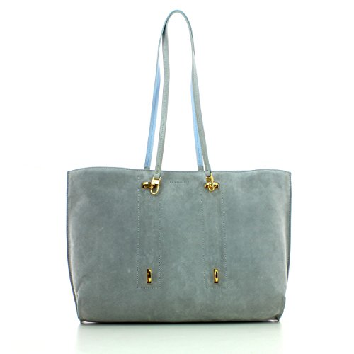 Coccinelle Iggy Suede shopping bag leither chamois Iris