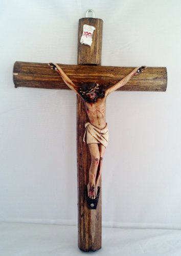 Crucifix Christ - 15 Inch Crucifix Jesus Christ Jesucristo Statue Figurine Cristo Wood Cross by Unknown