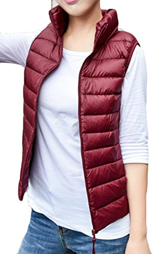 Women's Collar Color Lightweight Vest Stand M Solid amp;W Down Fashion 4 amp;S 8ZwHHqgWE