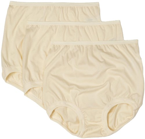 - Vanity Fair Women's Lollipop Plus Size Cuff Leg Brief Panties 3 Pack 15867, Candleglow X-Large/8