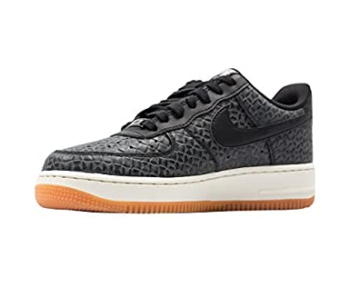 free shipping 7e449 cf10b Image Unavailable. Image not available for. Color  Nike Women s Air Force 1   07 Premium Low Basketball Shoe Black Black-Sail