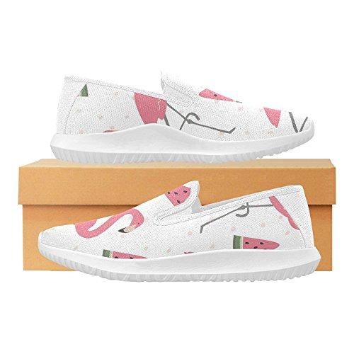 Slip Da Uomo Mocassino Slip On Sneakers Donna Canvas Multi Moda 9