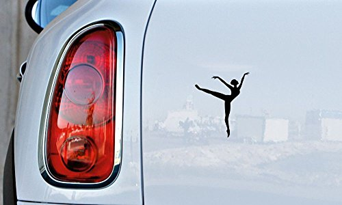 [Ballerina Dancer Silhouette Version 2 Car Vinyl Sticker Decal Bumper Sticker for Auto Cars Trucks Windshield Custom Walls Windows Ipad Macbook Laptop and More] (Customs For Halloween Ideas)