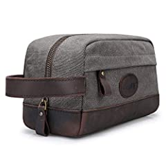 Organize your toiletries, shave kit and makeup bag for your next excursion in this durable - Great for every use - vintage style and progressive performance - Made with highest quality materials  - 100% leather handle and sturdy metal zipper ...