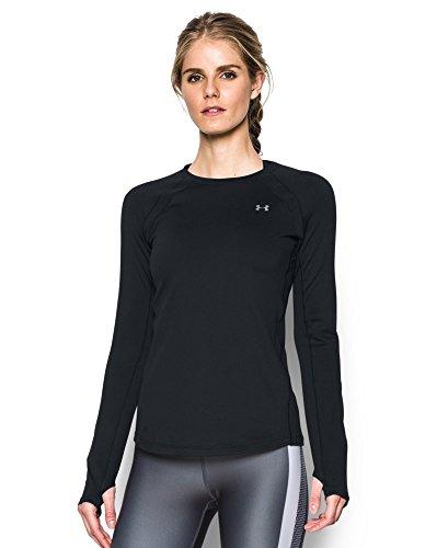 Under Armour Women's ColdGear Long Sleeve, Black (001), Large