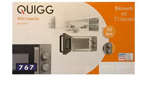 Microondas Quigg MD 18351 con 17L (: Amazon.es: Grandes ...