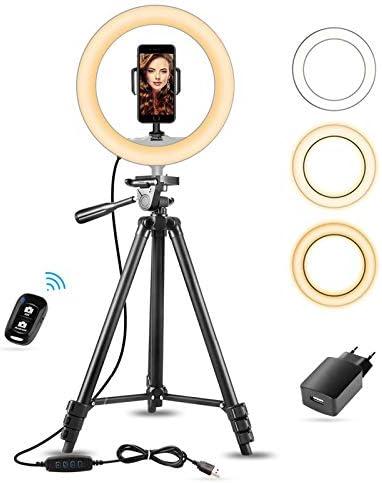 15 10 Selfie Ringlicht Mit 50 Ausziehbarem Stativ Handyhalterung Für Make Up Live Streaming Sunup