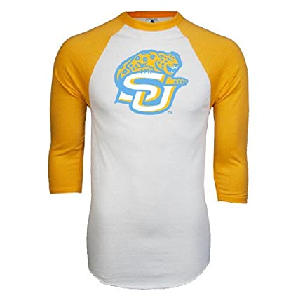4aae71d1e Amazon.com   CollegeFanGear Southern University White Gold Raglan ...