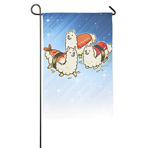 - FOOOKL Alpaca Sushi Niguiri Home Family Party Flag 101 Hipster Welcomes The Banner Garden Flags