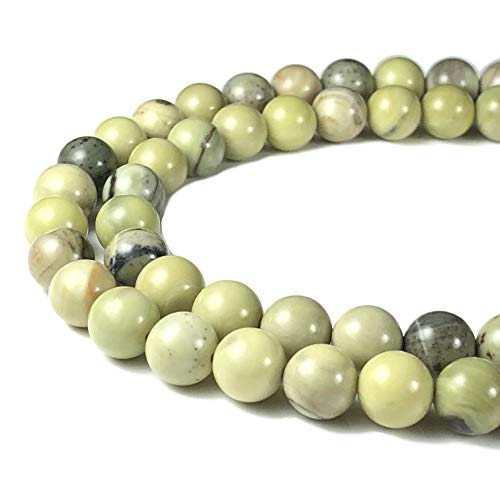 Jasper Round Beads - [ABCgems] Australian Butter Jasper 8mm Smooth Round Beads for Beading & Jewelry Making