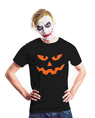 Mens Halloween Costume Shirt 11 Different Design (L, Black - Mens Pumpkin (Different Halloween Pumpkin Faces)