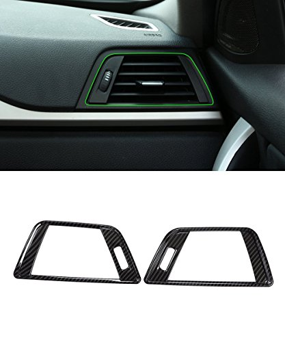 METYOUCAR Carbon Fiber Style Side Dashboard Air Conditioning Outlet Cover Trim For BMW 3 4 Series F30 GT 13-16