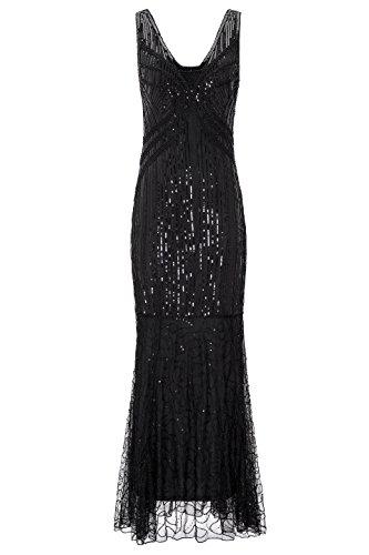 black gatsby dress - 9