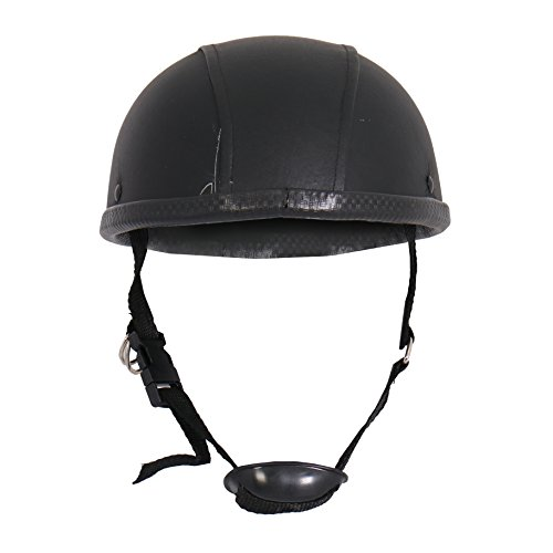 Leather Covered Motorcycle Helmet - 7