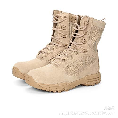 HCBYJ Schuhe 8 inch Stiefel Ultra Light Combat Stiefel high to Help Desert Male Tactics