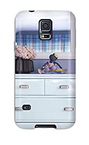 Jimmy E Aguirre's Shop Ideal Case Cover For Galaxy S5(eclectic Ice Blue Dresser 038 White Mirror In Blue Bedroom), Protective Stylish Case 7044221K47001677