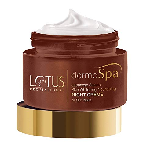 Lotus Professional Dermo Spa Japanese Sakura Skin Whitening and Nourishing Night Creme, 50g