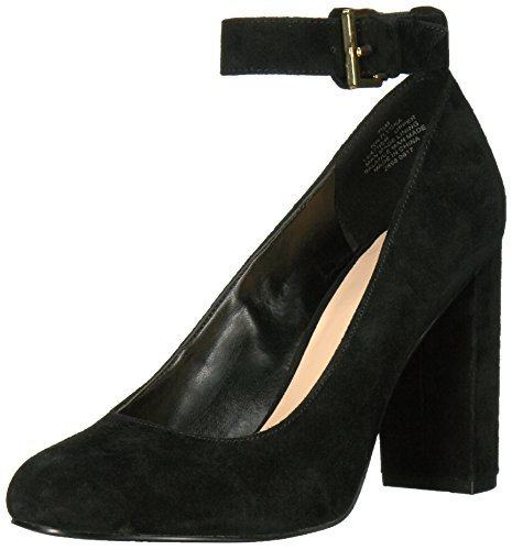Nine West Women's Lyoka Suede Pump, Black Suede, 9 M US