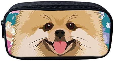 Showudesigns - Estuche para lápices con diseño de gato y perro para niñas, con cremallera, material escolar, color Sloth Flower talla única: Amazon.es: Oficina y papelería