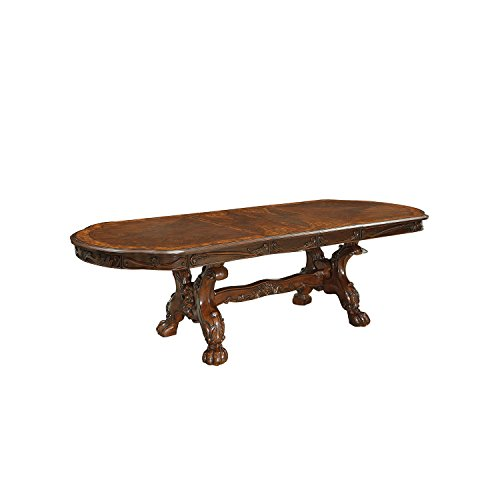 HOMES: Inside + Out IDF-3557CH-T Victoria Classic Formal Oval Dining Table, Cherry