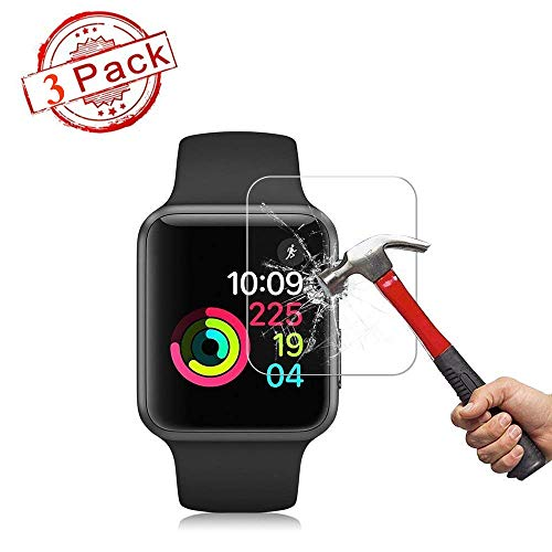 - [3PACK] Watch Serie 4 44MM Screen Protector, EcoPestuGo [9H Hardness][Anti-Fingerprint][Anti-Scratch][Ultra-Clear][No Bubble] Tempered Glass Screen Protector Compatible Watch Serie 4 44MM