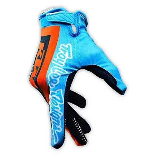 Equipo Edici/ón Off-Road Guantes de monta/ña Protecci/ón Total para los Dedos Montar en Bicicleta Motociclismo Carreras de Cross Country Guantes Deportivos Hombres Mujeres KTM Azul