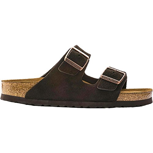Birkenstock Unisex Arizona Mocha Suede Sandal 42 N (US Men's 9-9.5 / US Women's (5190 Leather)