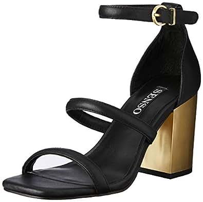 Senso Women's Robbie III Fashion Sandals, Ebony, 35 EU