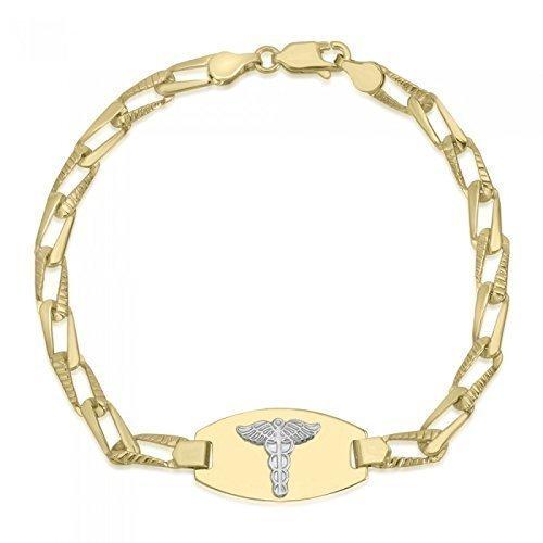 Medical Alert Bracelets >> Amazon Com 10k Yellow Gold Medical Alert Bracelet Medical Data