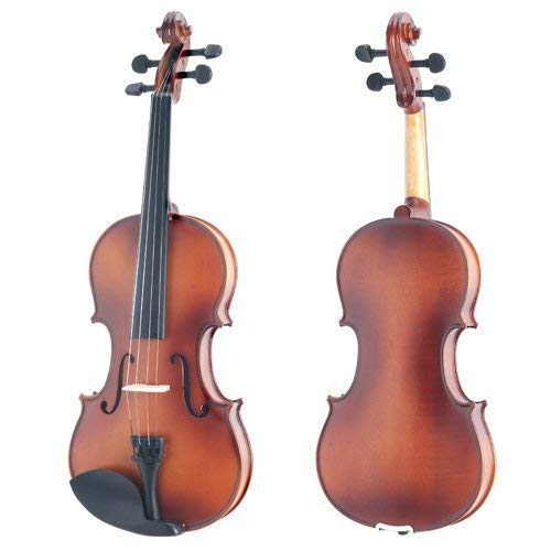 Large Product Image of Mendini 4/4 MV300 Solid Wood Satin Antique Violin with Hard Case, Shoulder Rest, Bow, Rosin and Extra Strings (Full Size)