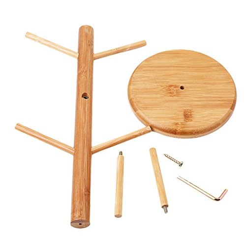 Strong Wood Mug Rack Holder Tree Coffee Cup Storage Stand Kitchen Organization by Agordo (Image #9)