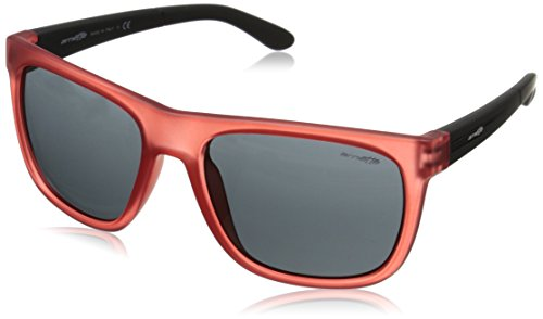 Arnette Fire Drill AN4143-30 Rectangular Sunglasses,Gummy Cherry/Fuzzy Black/Grey,59 - Arnette Fire Drill