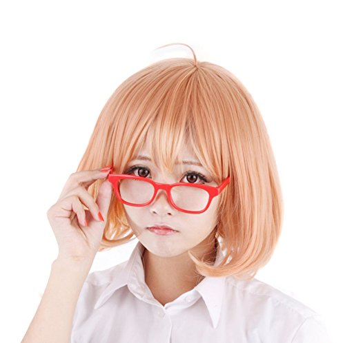 HH Building Beyond the Boundary Cosplay Wig Mirai Kuriyama Short Bob Anime Party Wig -