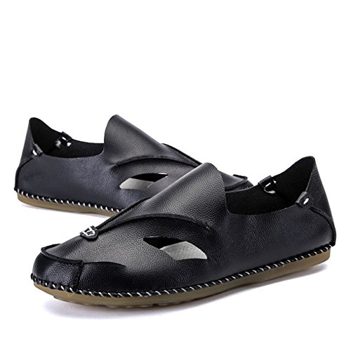 3 Colore Da Estivi Scarpe Uomo 41 Da da Scarpe pantofole Nero Uomo Traspiranti 1 Fatte Spiaggia Da Nero A Mano Scarpe Sandali spiaggia Dimensione Nere Wagsiyi Britanniche xOnRI4I