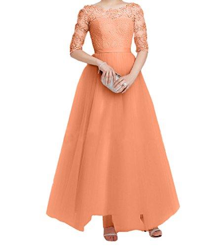 Spitze Orange Promkleider Festlichkleider Damen Elegant Tuell ...