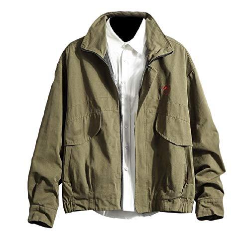 size Esercito Corta Sottile Antivento Uomini Cotone Verde Arredata Cappotto Plus Xinheo Cerniere UtwpqtO