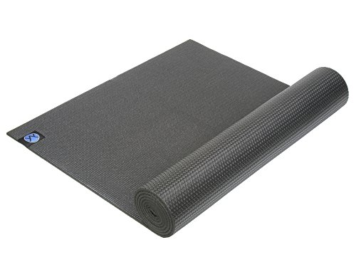 Youphoria Yoga 1/4-Inch Eco Friendly Memory Foam Yoga Mat with Strap, Black