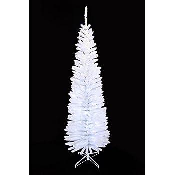 Amazon.com: Vickerman White Salem Pencil Tree with Dura-Lit 200 ...