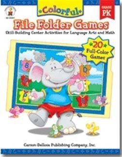 Language Arts File Folder Games (Colorful File Folder Games Gr-pk)