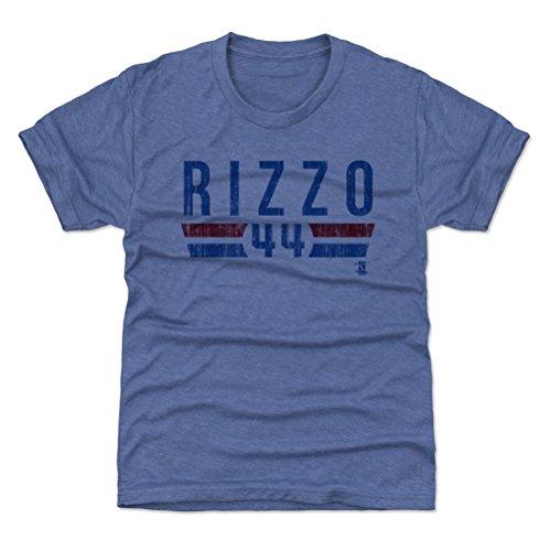 500 LEVEL Chicago Baseball Youth Shirt - Kids Medium (8Y) Tri Royal - Anthony Rizzo Font B