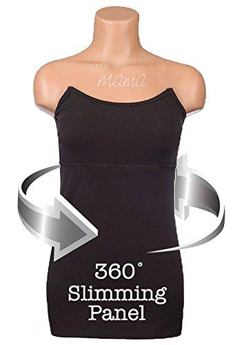 Undercover Mama Adelgazante–Tanque de lactancia smooths y pliegan vientre Slimming Black