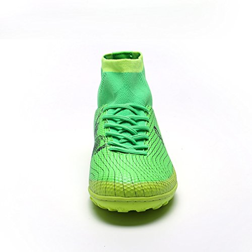Anti Soccer Breathable Shoes Athletic Damping Sports Shoes Boots Running Turf High Kids Top Mens Cleat Team Outdoor Indoor BADIER Green Dark Lightweight Mundial Football Skid CxtUHqwpn