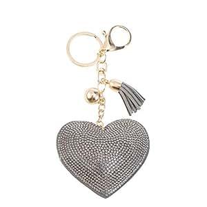 Amazon.com: Tendycoco - Llavero con forma de corazón y ...