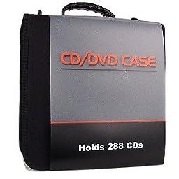 CD/DVD Vinyl Carrying Case -Black-288-Disc